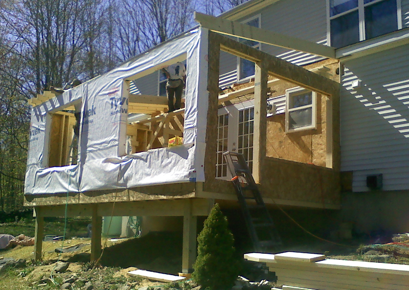 Porches decks best american construction llc for Four season porches pictures